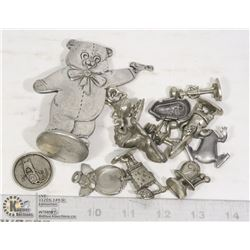 BAG - ASSORTED PEWTER FIGURES