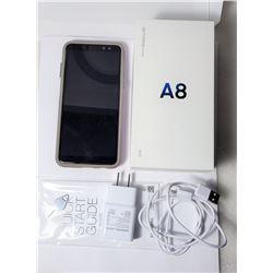 9)  SAMSUNG GALAXIE A8 CELLPHONE, UNLOCKED,