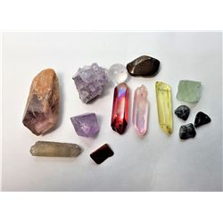 4)  LOT OF 14 HEALING STONES INCLUDING: