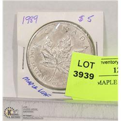 1989 5$ MAPLE LEAF