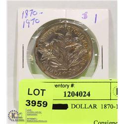 1970 1$ DOLLAR  1870-1970