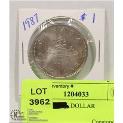 1987 1$  DOLLAR COIN