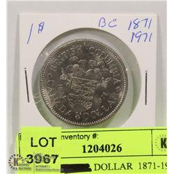 1971 1$  DOLLAR  1871-1971