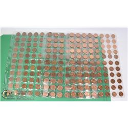 3 SHEETS OF PENNIES - 1980-1990, 1990-2000, 2000-2