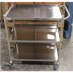 NEW STAINLESS STEEL BUSSING CART