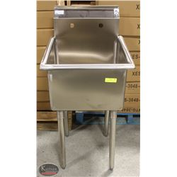 NEW STAINLESS STEEL SINGLE WELL SINK