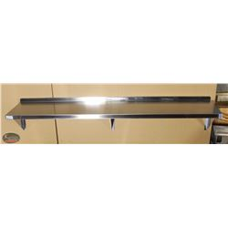 NEW 72 X14  STAINLESS STEEL WALL SHELF