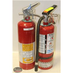 LOT OF 2  5LBS CHARGED FIRE EXTINGUISHERS