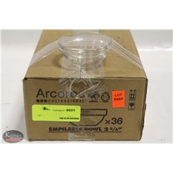 "CASE OF NEW ARCOROC 2-3/4"" STACKING BOWLS"