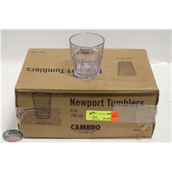 CASE OF 34 NEW CAMBRO 6 OZ. NEWPORT TUMBLERS