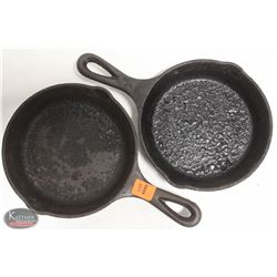 "LOT OF 2 6"" CAST IRON FRYING PANS"