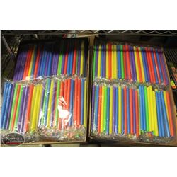 "2 BOXES OF 8.5"" BUBBLE TEA STRAWS"