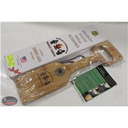 NEW HOLLYGRILL NATURAL BAMBOO WOOD GRILL SCRAPER