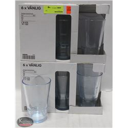 LOT OF 12 IKEA VANLIG 16 OZ GLASSES