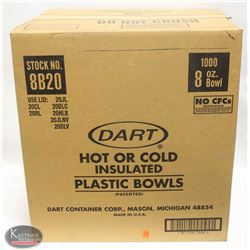 CASE OF 1000 DART 8 OZ HOT OR COLD INSULATED
