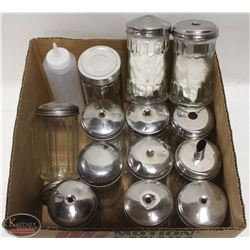 FLAT OF 12 TABLETOP SUGAR DISPENSERS