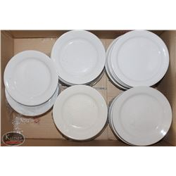 BOX OF MANY PORCELAIN SIDE PLATES