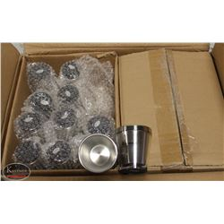 CASE OF 72 NEW PLASTIC & STAINLESS STEEL SHOT