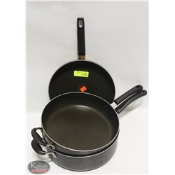 """LOT OF NON-STICK COOKWARE INCL: 12"""" FRYING PAN, &"""