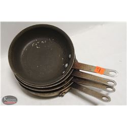 """LOT OF 4 NON-STICK 7.5"""" FRYING PANS"""