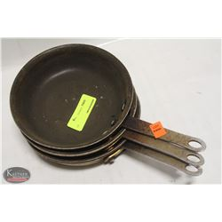 """LOT OF 3 NON-STICK 7.5"""" FRYING PANS"""