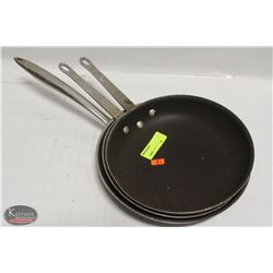 """STACK OF 3 ASSORTED FRYING PANS INCL: TWO 10.5"""""""