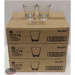 3 CASES OF LIBBEY 9 OZ ENDEAVOR ROCKS GLASSES