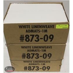 3 CASES OF FORT HOWARD WHITE LINEWEAVE ADMATS