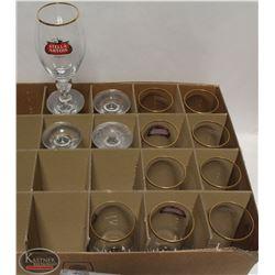LOT OF 14 STELLA ARTOIS FOOTED BEER GLASSES