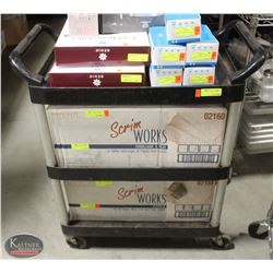 RUBBERMAID 3-TIER COMMERCIAL BUSSING CART