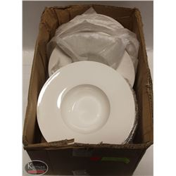 CASE OF NEW & USED PASTA / SOUP PLATE