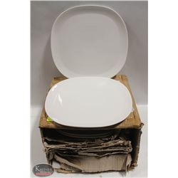 """CASE OF NEW  LARGE 12.5"""" DINNER PLATES"""