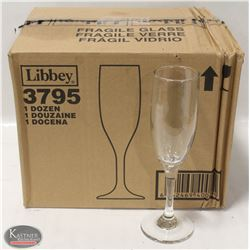 CASE OF NEW LIBBEY 6 OZ FLUTE GLASSES