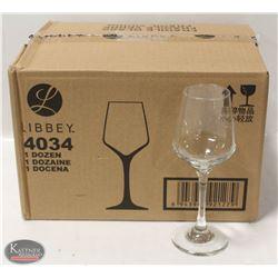 CASE OF NEW LIBBEY 8.3 OZ BRILLIANCE WINE GLASSES