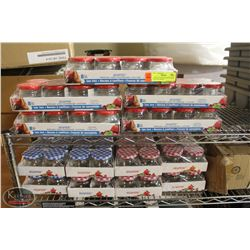 13 NEW 8-PACKS & CRATE OF USED SNAPTITE JARS W/