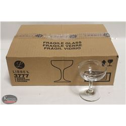 CASE (DOZEN) NEW LIBBEY 4.5 OZ CHAMPAGNE GLASSES