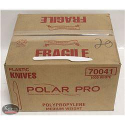 CASE OF POLAR PRO PLASTIC KNIVES (1000 TOTAL)