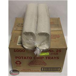 CASE OF 1000 WHITE POTATO CHIP TRAYS