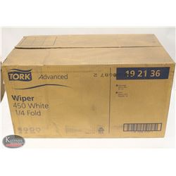 CASE OF TORK ADVANCED WIPER 450 WHITE, 1/4 FOLD