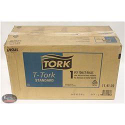 CASE OF TORK 1 PLY TOILET ROLLS