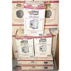 3 TORK M-BOX'S W/ 2 COMPATIBLE TEAR-OFF TUBE FOR