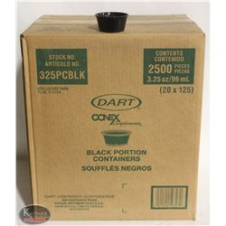 CASE OF DART 3.25 OZ DISPOSABLE BLACK PORTION CUPS