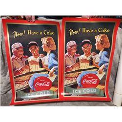 2 Coca-Cola posters 24 X 15