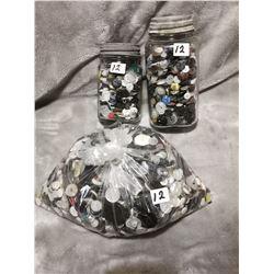 4lb bag & 2 jars of buttons