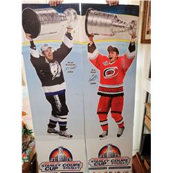 """Cup winners Richard & Staal NHL signs 72"""" X 20"""""""