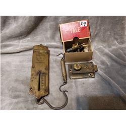 Vintage scales & Yale lock