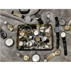 Tin full of watches, as is