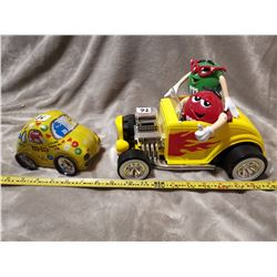 M&M Candy dispenser & VW bug tin can