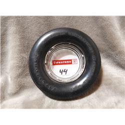 Vintage Firestone rubber tire ashtray