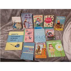 Lot of books, some school books